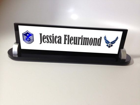 Military Name Plate desk name plate personalized Air