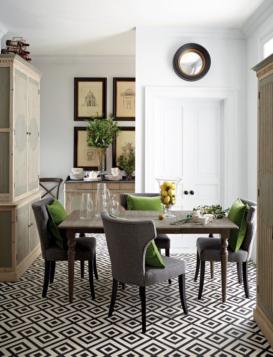 Neutral Colour Scheme Dining Room Classically Styled Dining Room