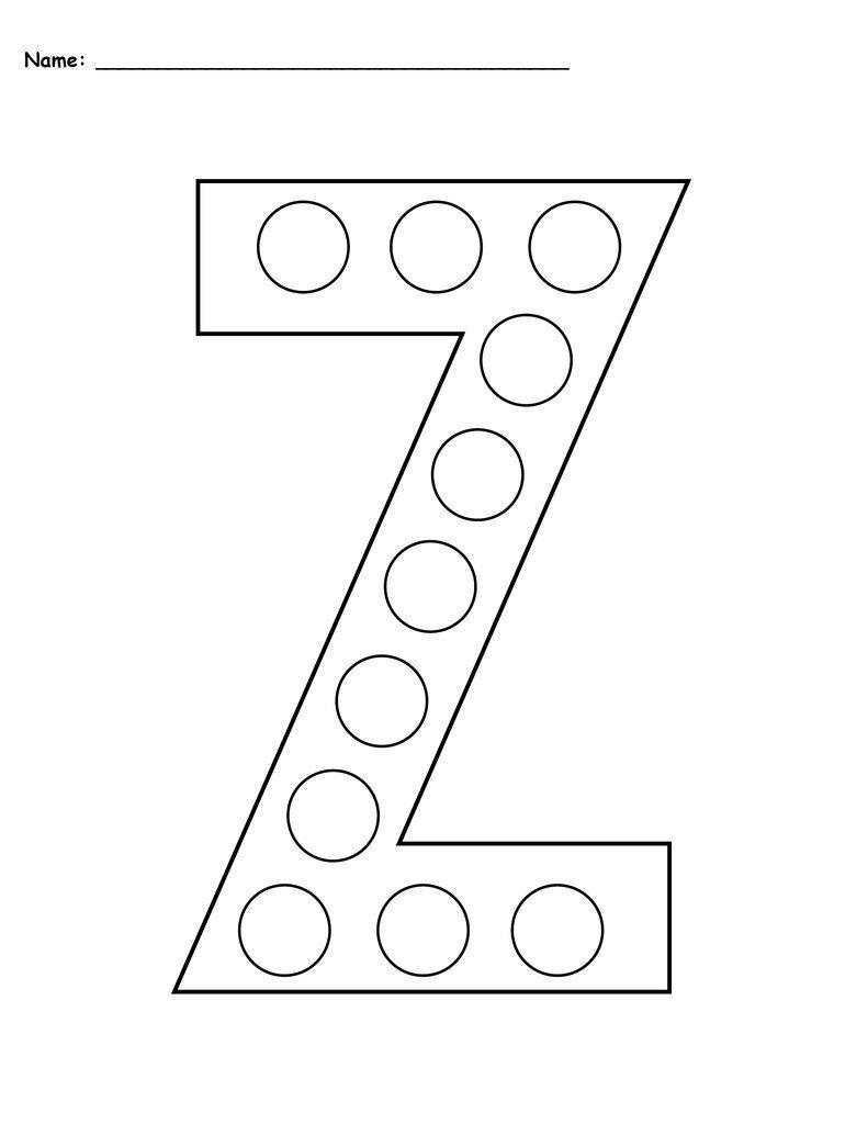 Letter Z Do A Dot Printables Uppercase Lowercase Do A Dot Letter Z Preschool Letters