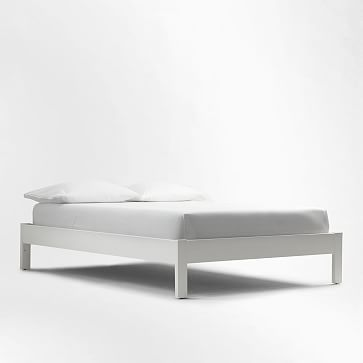 Simple Bed Frame King White Lacquer At West Elm Beds Bedroom