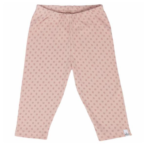 Holly's rosa babybukser m. kløver - ansos.dk - Økologisk børnetøj og babytøj samt økologisk tilbehør. www.ansos.dk