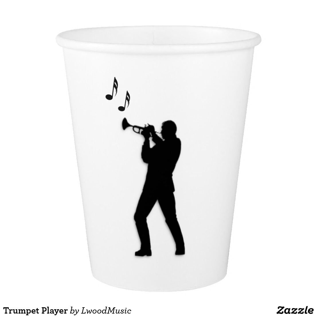 Trumpet Player Paper Cup #music