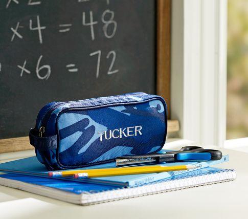 Mackenzie Blue Camo Pencil Case Blue Camo Pencil Case Blue