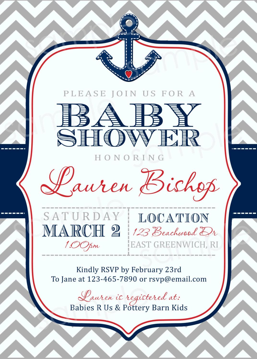 Nautical Baby Shower Invitations | Baby Shower Invitation Card ...