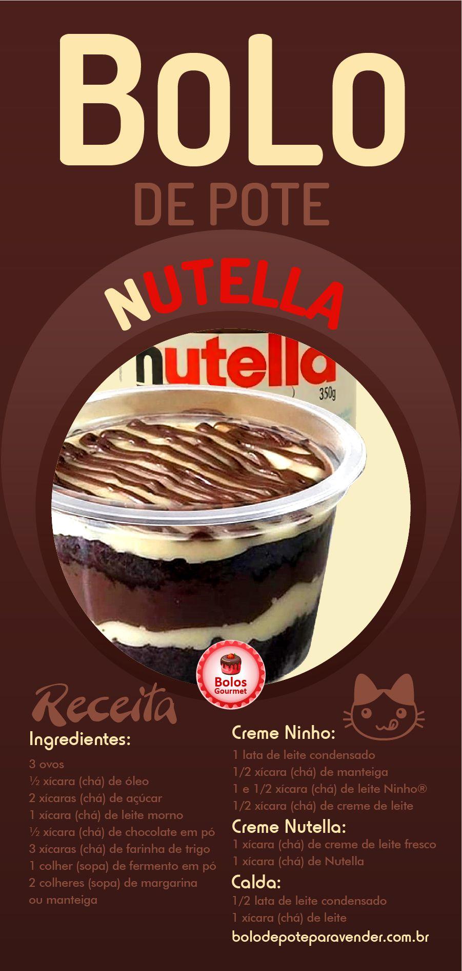 Receita De Bolo De Pote De Nutella Leite Ninho Passo A Passo