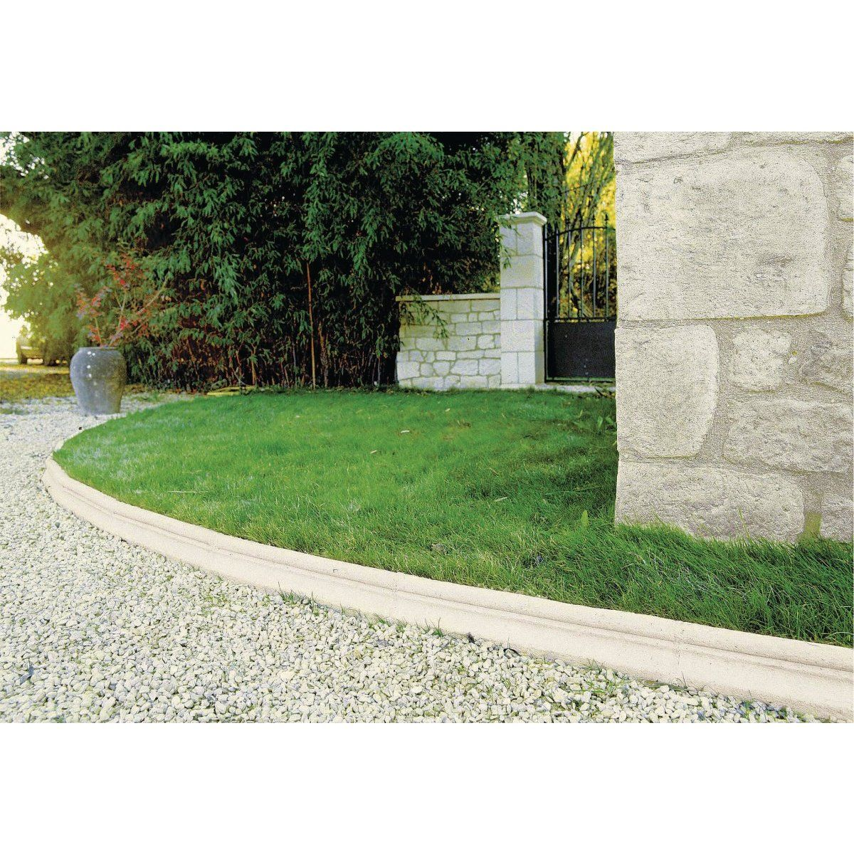 Bordure jardin pierre reconstitu e orsol ton pierre for Bordure de jardin en pierre naturelle