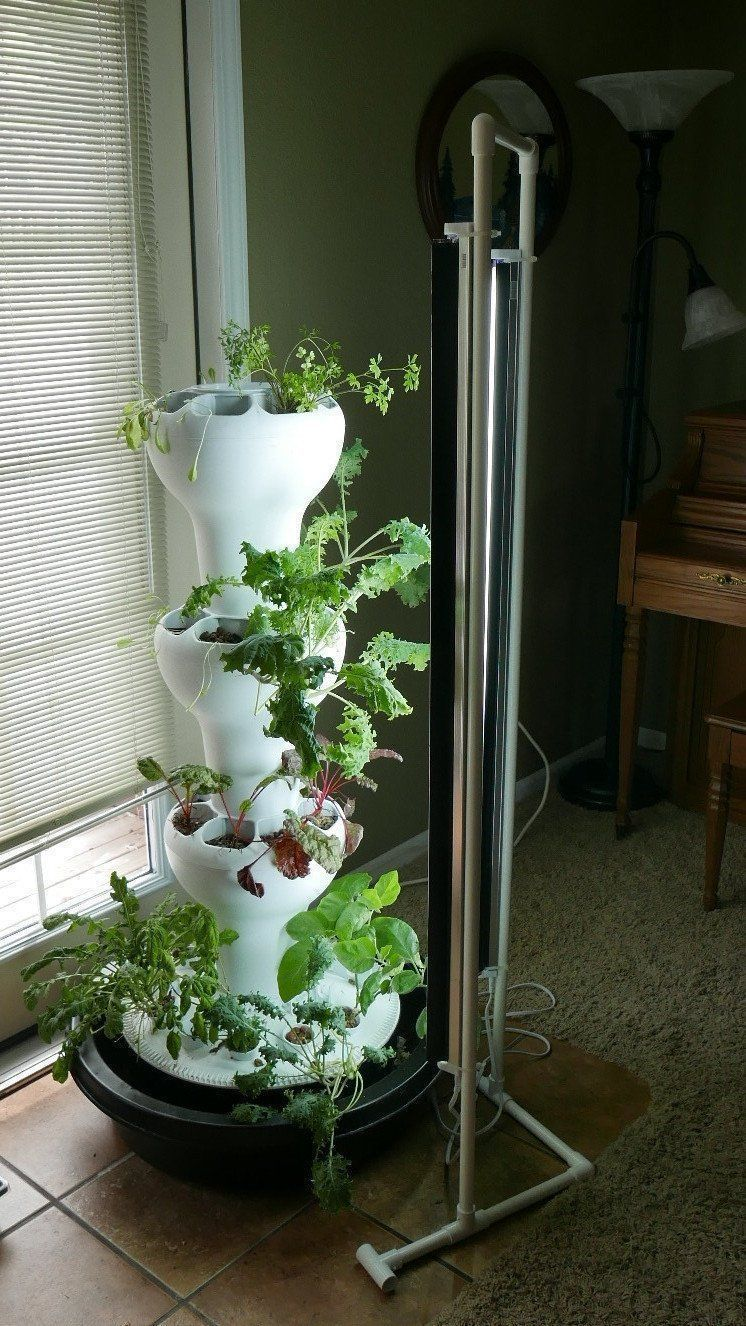 PVC T5 Light System towergardenpvc Vertical garden