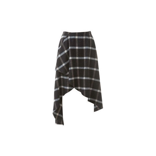 Hi Low Asymmetrical Wrap Skirt 01/2015 #108B ❤ liked on Polyvore featuring skirts