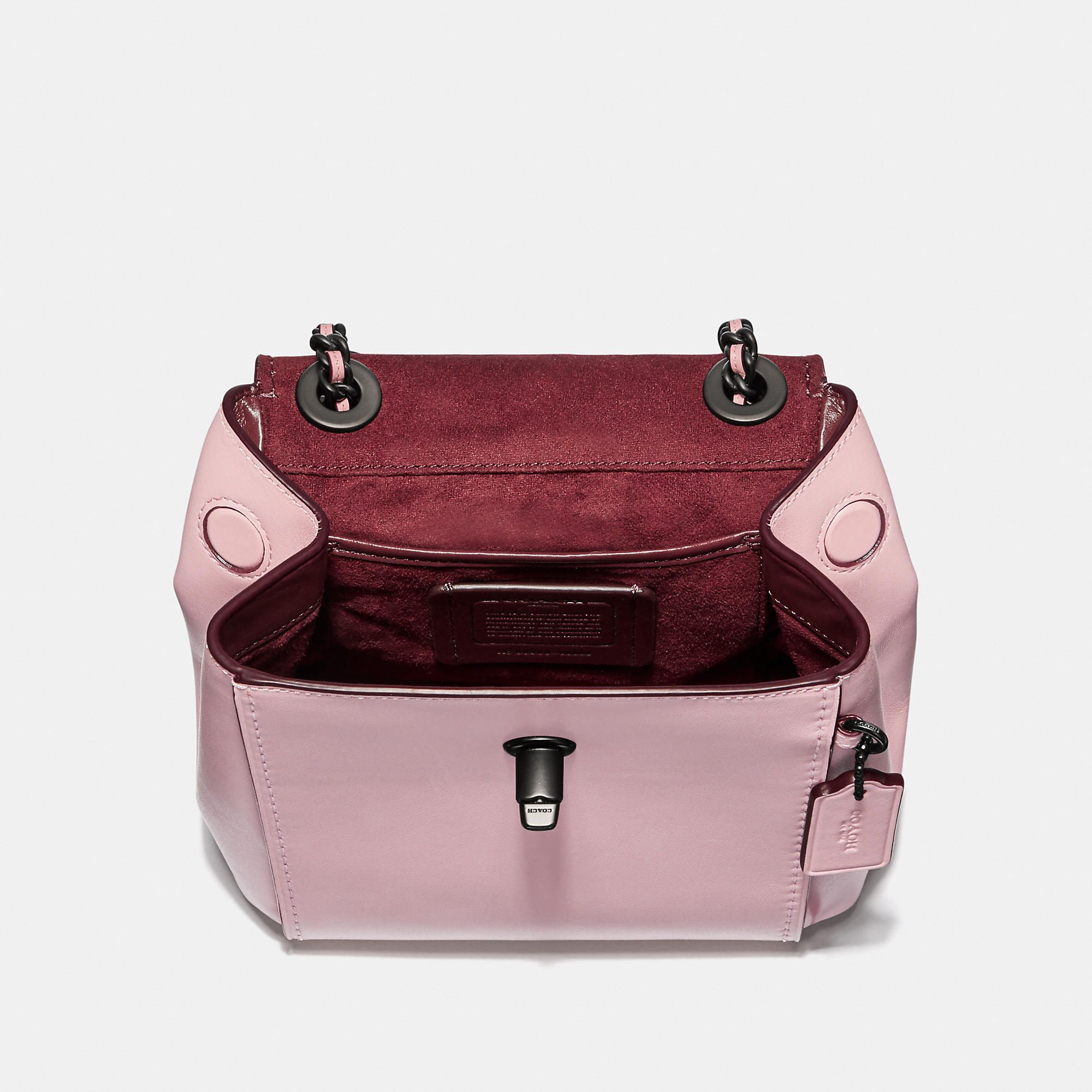 ab4ceed2112 COACH Parker Convertible Backpack 16 With Tea Rose Stones - Women's  Backpacks