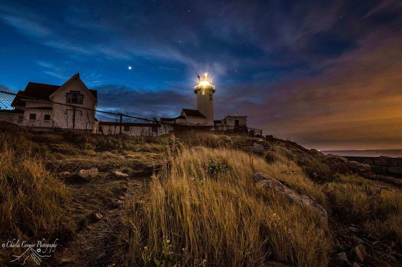 Check out this beautiful photo of Eastern Point Light at Gloucester, Massachusetts. Gloucester is a great please to go whale watching. Thus if your planning a New England (Indian Summer) trip don't forget to include   Trip itinerary you find at http://www.reizenenmeer.com/84996435  Photo credit Charles Cormier Photography
