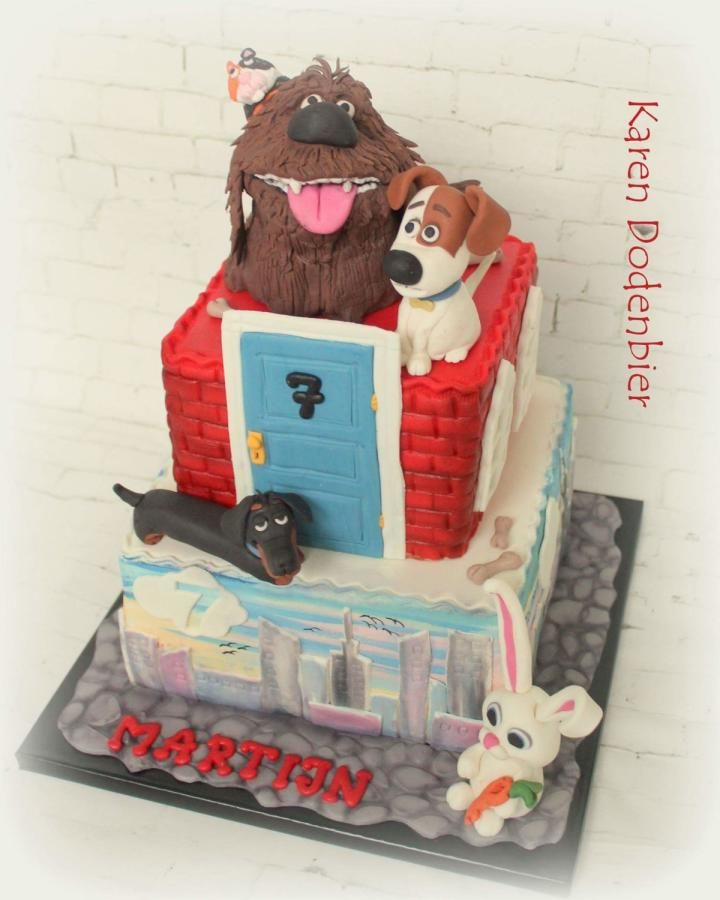 Secret Life of Pets cake  by Karen Dodenbier