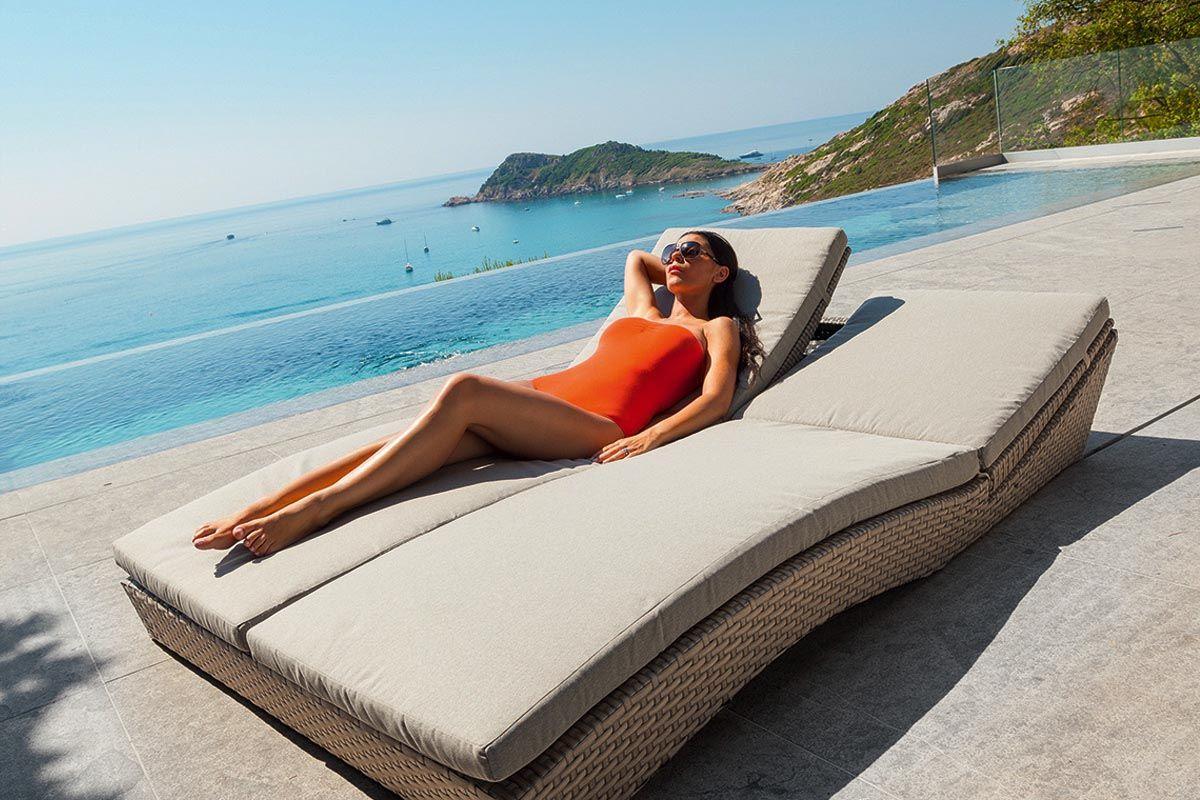 hesperide notre lit piscine double alfama taupe. Black Bedroom Furniture Sets. Home Design Ideas