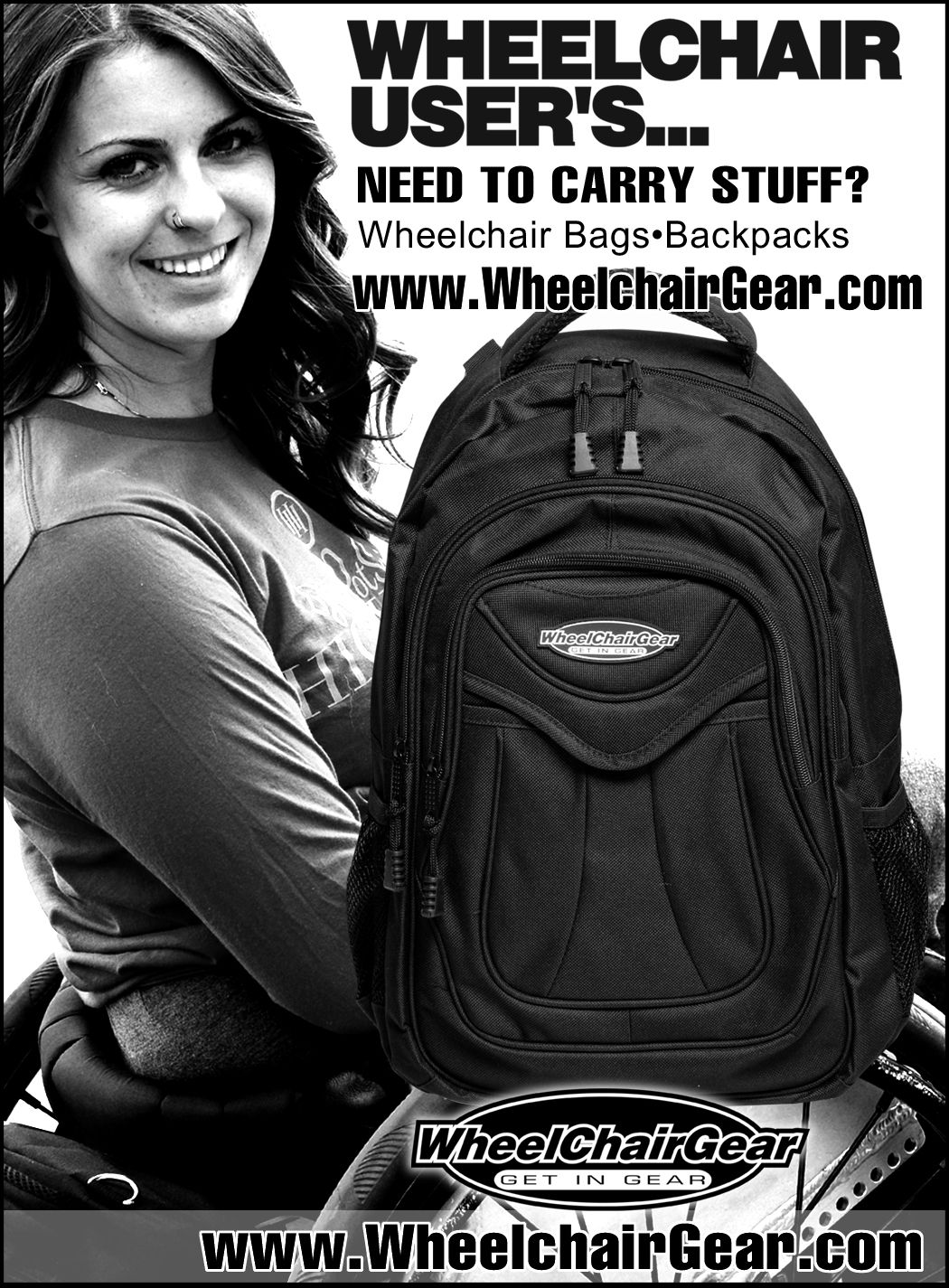 Wheelchair User S Need To Carry Stuff Check Us Out Click Here Www Wheelchairgear Com For A Large Selection Of Ways To Help You Wheelchair Bags Bags Backpacks