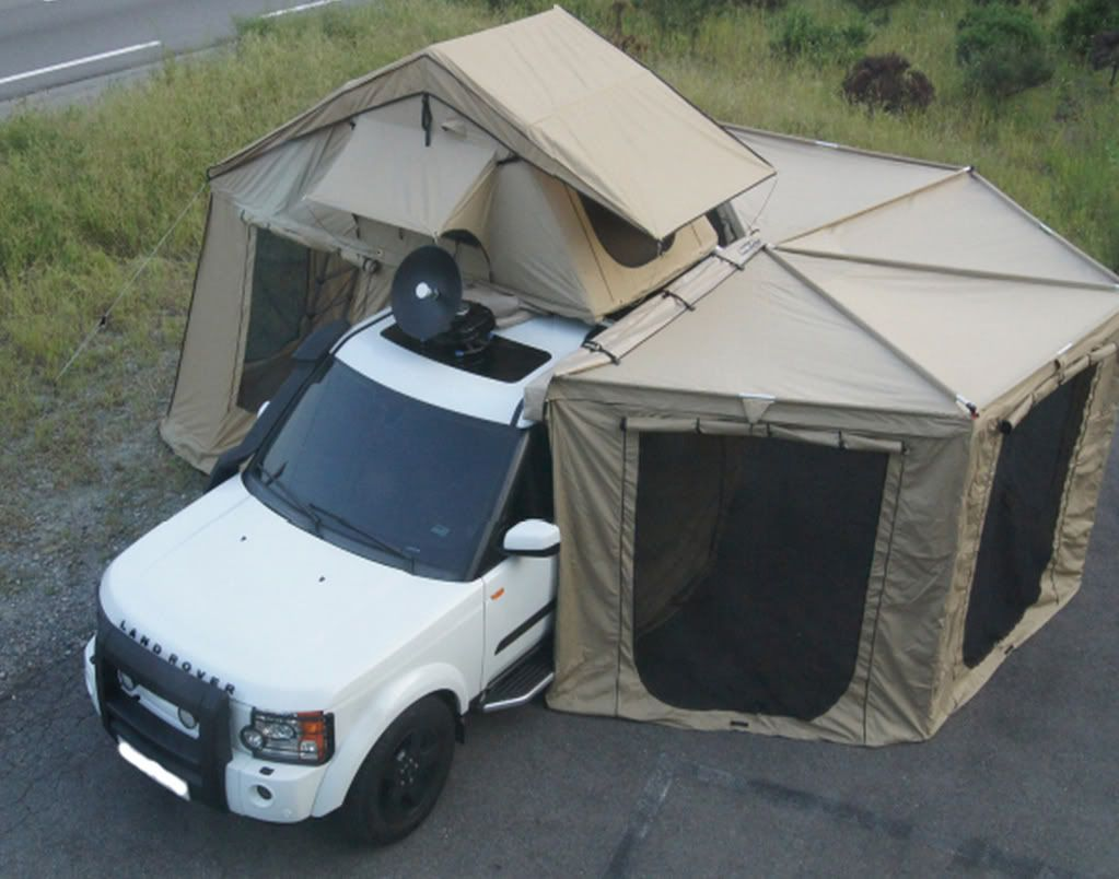 4Wd Awning Tent 2-5m-bat-wing-fox-wing-hexagonal-awning-camping-roof-top-4wd