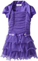Amazon.com: Amy Byer Girls 2-6X Glitter Wire Ruffle With Shrug: Clothing