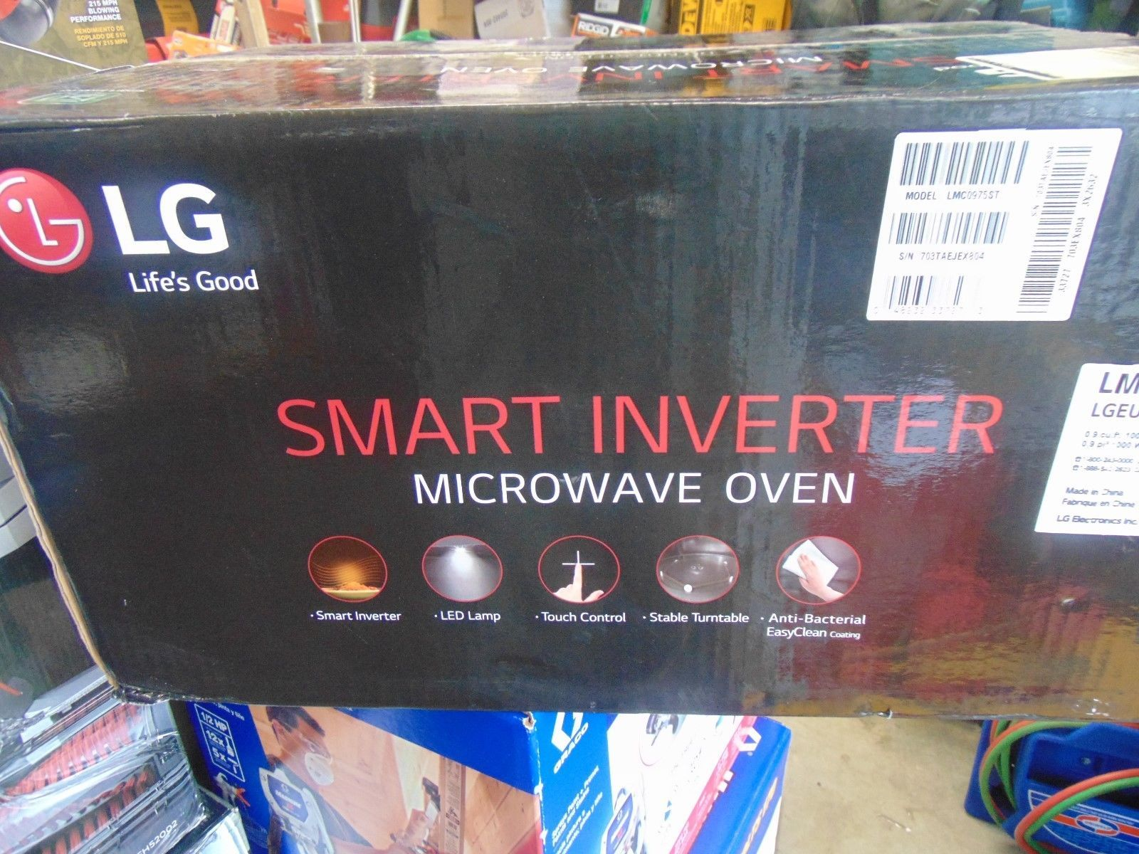 Microwave Ovens 150140 Lg Lmc0975st 0 9cf Compact Size 1040w