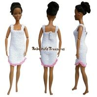 Crochet Fashion Doll Nightgown Free Crochet Pattern