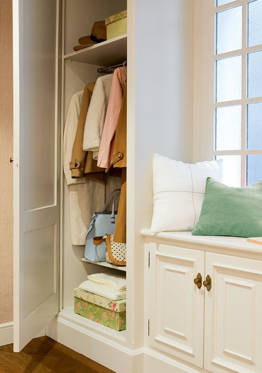 Planifica el recibidor ideal pinterest recibidor - Recibidor con armario ...