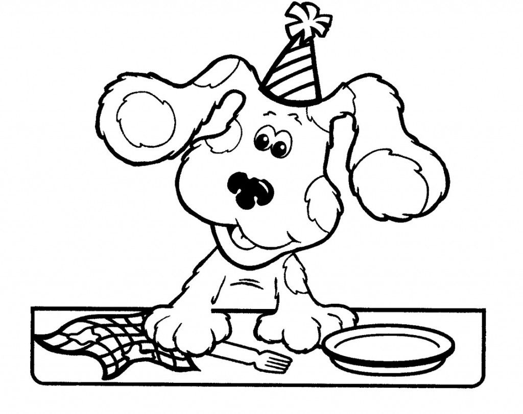 blues clues cleaning up  coloring pages coloring books