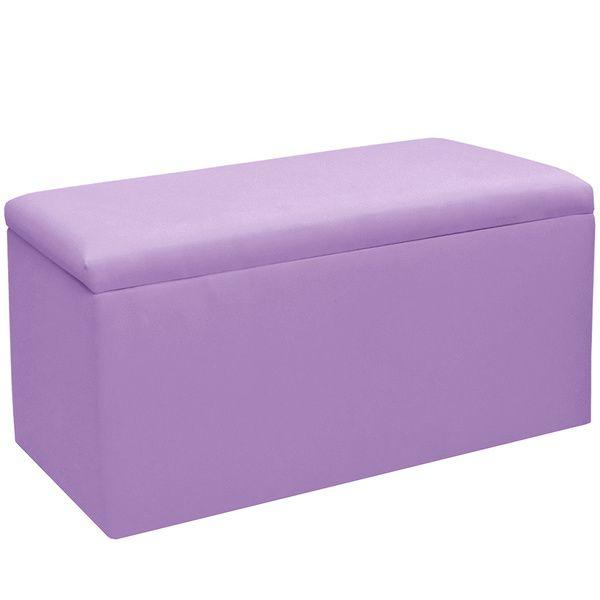 Skyline Furniture Kids Storage Bench in Duck Lilac