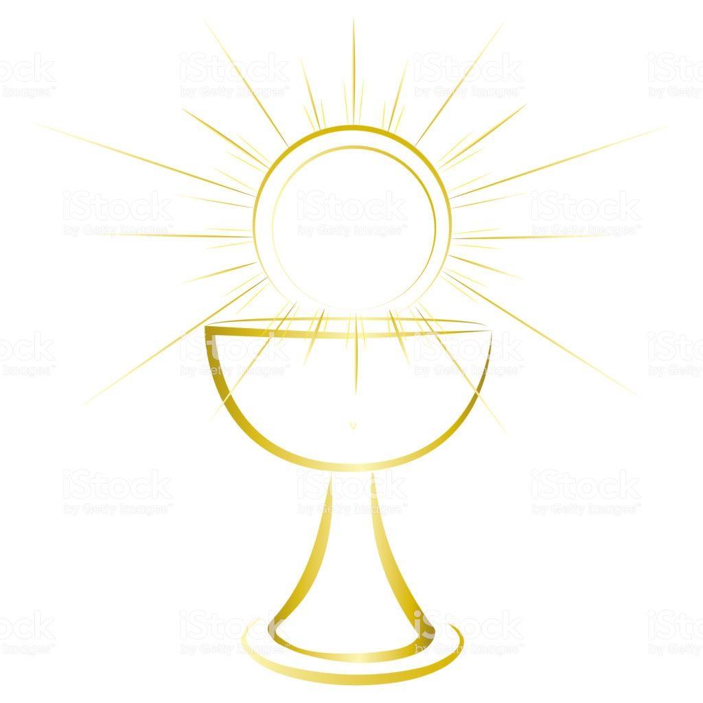 Gold Design First Communion Symbol For A Nice Invitation Design
