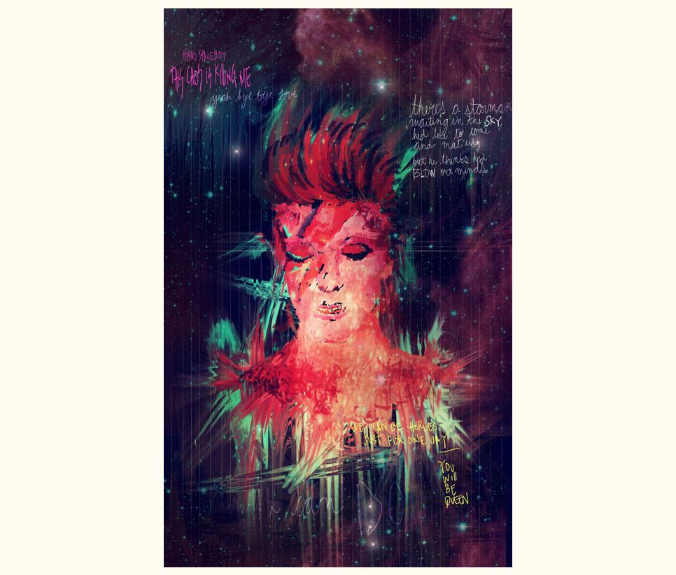 DAVID BOWIE BIBLE QUOTES SUPERNOVA illustration