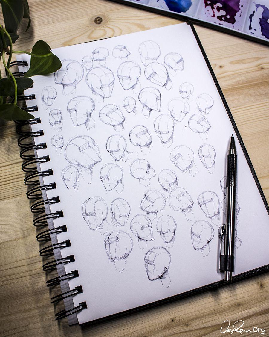 Drawing heads practice tutorial printable pdf