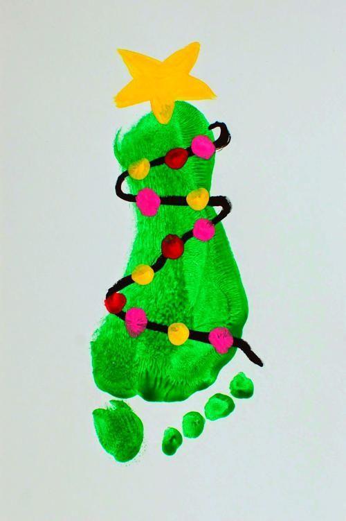 Mistletoes Footprint Craft #mistletoesfootprintcraft