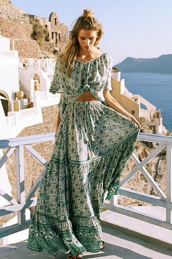 Combi Buttondown maxi skirt spell amp that Gypsy #summer dresses
