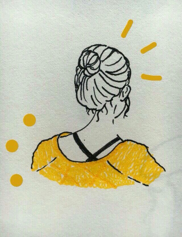 Yellow Aesthetic Drawing Www Picswe Com