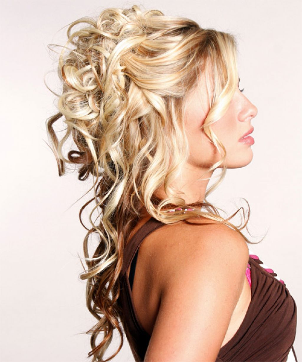 half up half down curly hairstyles | hair | pinterest | curly
