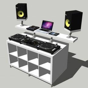 Dj Booth Dj Pult Dj Tisch Bauanleitung Aus Ikea Mobeln Home Studio Music Dj Table Dj Room