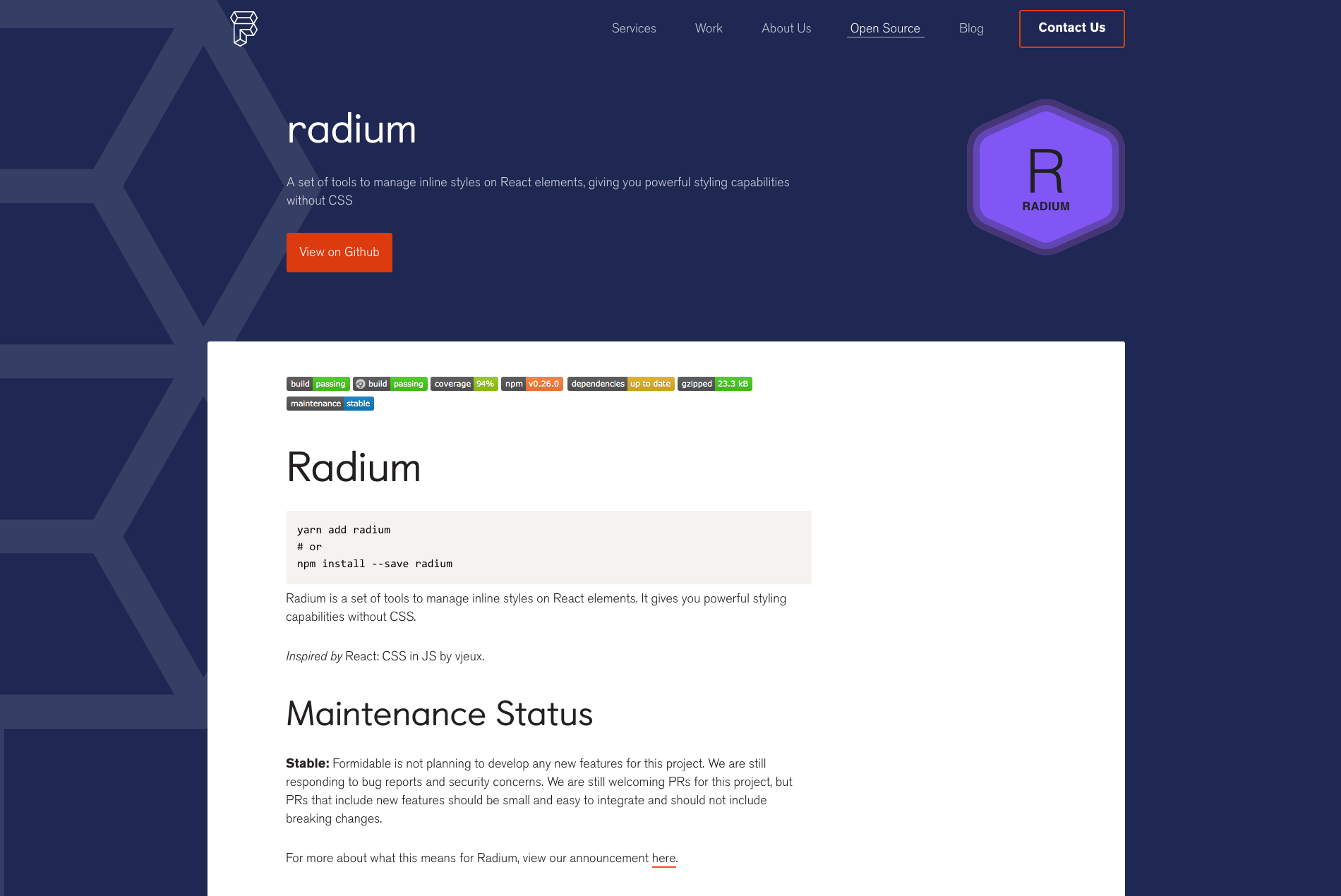 Radium in 2020 Prefixes, Templates, React native