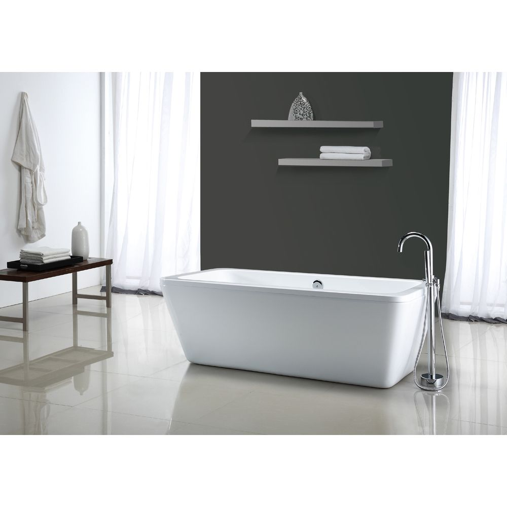 Pedestal Tub Options under $1200 - Ove Decors Kido Acrylic 69-inch ...