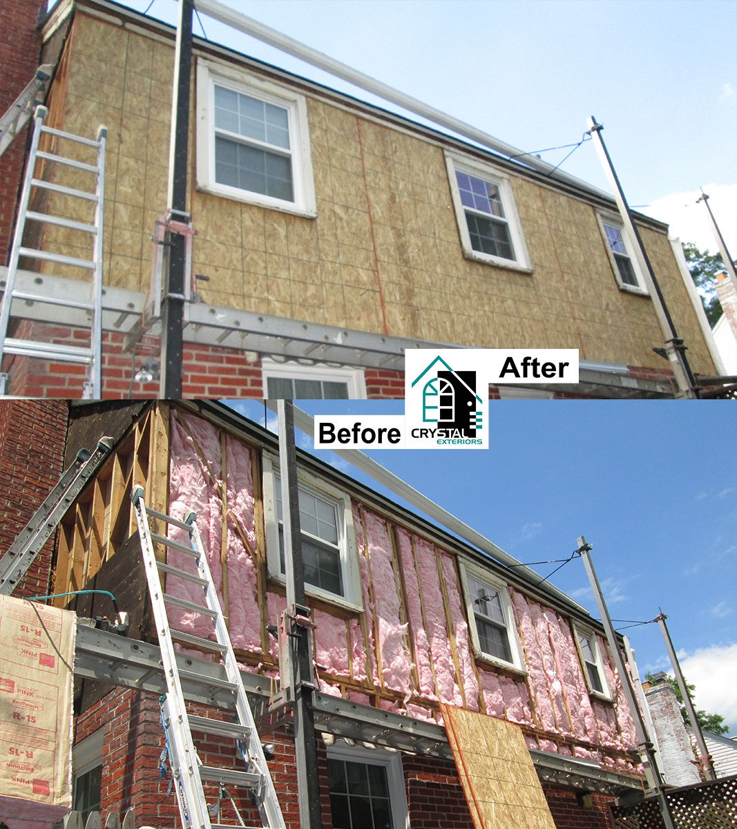 Siding Gallery Siding Replacement Works Crystal Exteriors Insulated Vinyl Siding Replacing Siding Siding