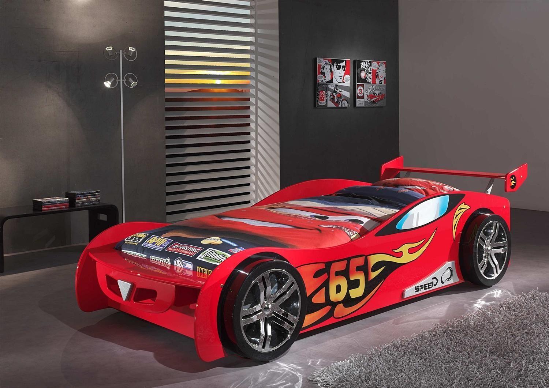 Kinderbett auto grün  Autobett / Kinderbett Speed-65 mit Spoiler in Rot | Kids Room-Boys ...