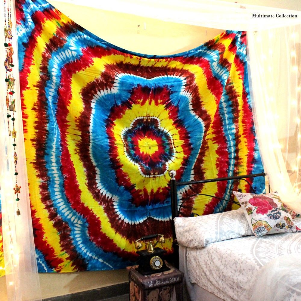 Add A Colorful Touch To Your Home Or Apartment By Hanging This Cool Tapestry.  This