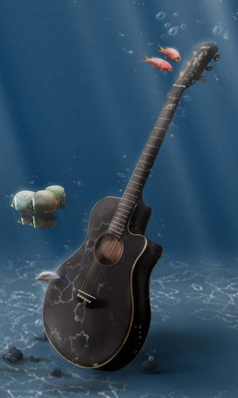 Guitar Playing Under Water Android Wallpapers Htc T Mobile G2 G1 Wallpapers Free Download Music Wallpaper Iphone Photography Samsung Galaxy Wallpaper