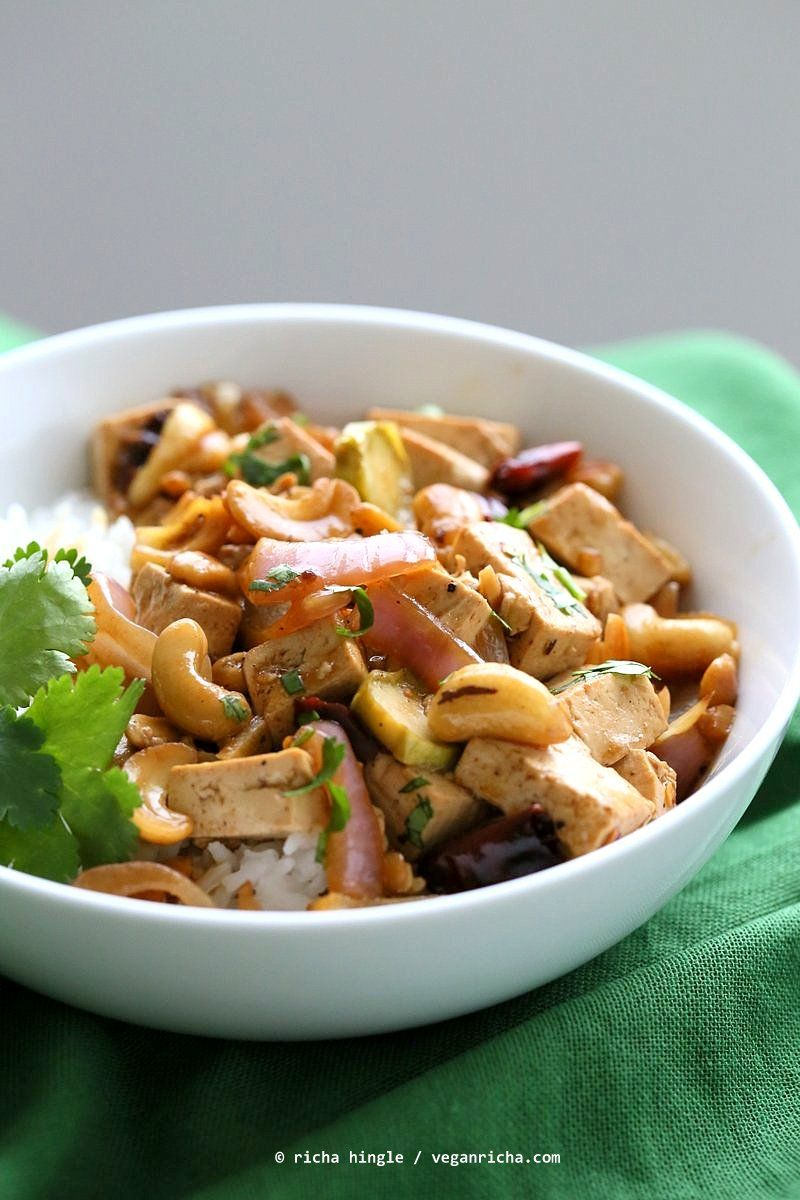 Cashew Tofu Stir Fry Recipe Vegan Richa Recipe Asian Vegetarian Recipes Tofu Stir Fry Recipes