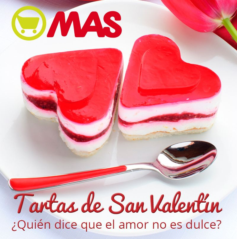 Tartas de San Valentín por encargo en Supermercados MAS