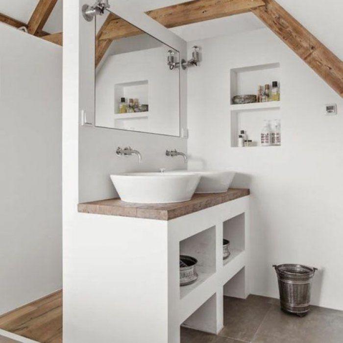 Am nager une salle de bain familiale de 6 5m2 idee deco salle de bain bathroom attic - Amenager une salle de bain de 5m2 ...