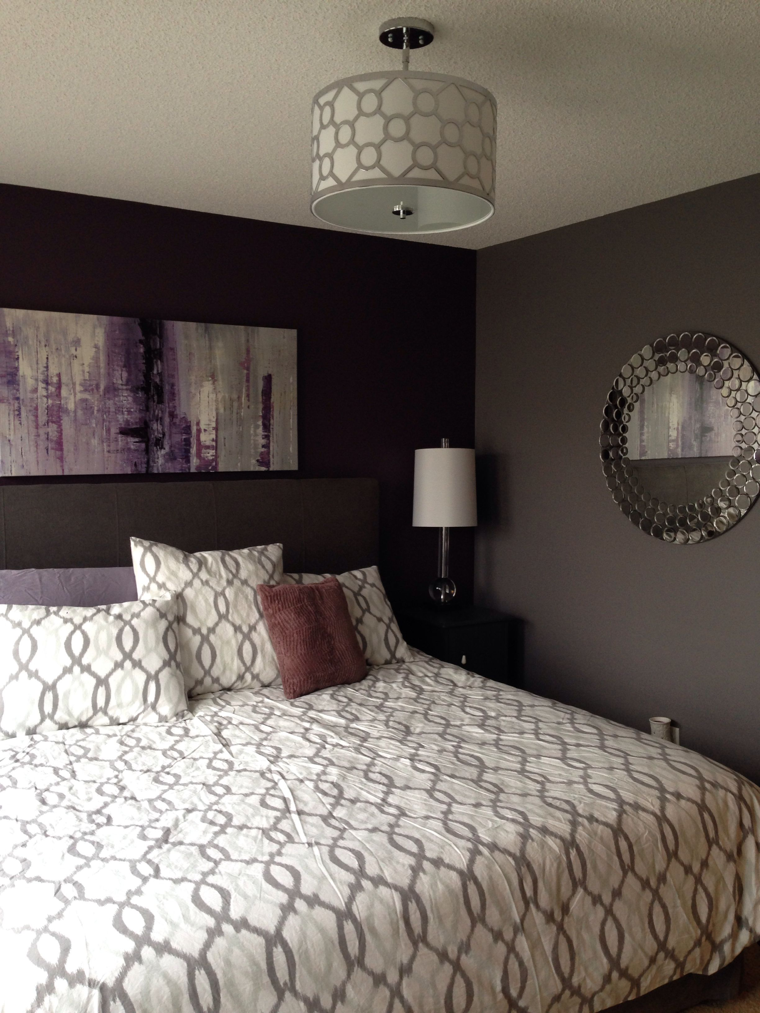 I love the colors in this Master Bedroom.