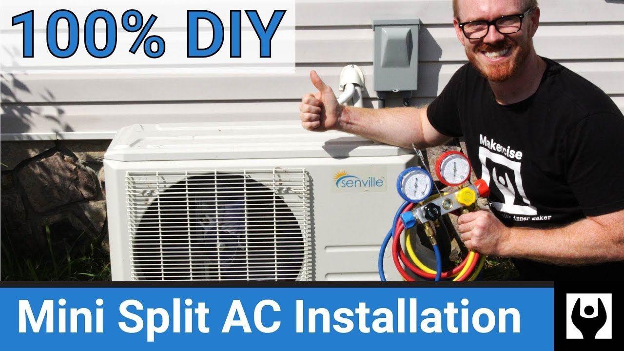 DIY Mini Split AC Installation Air Conditioning Install