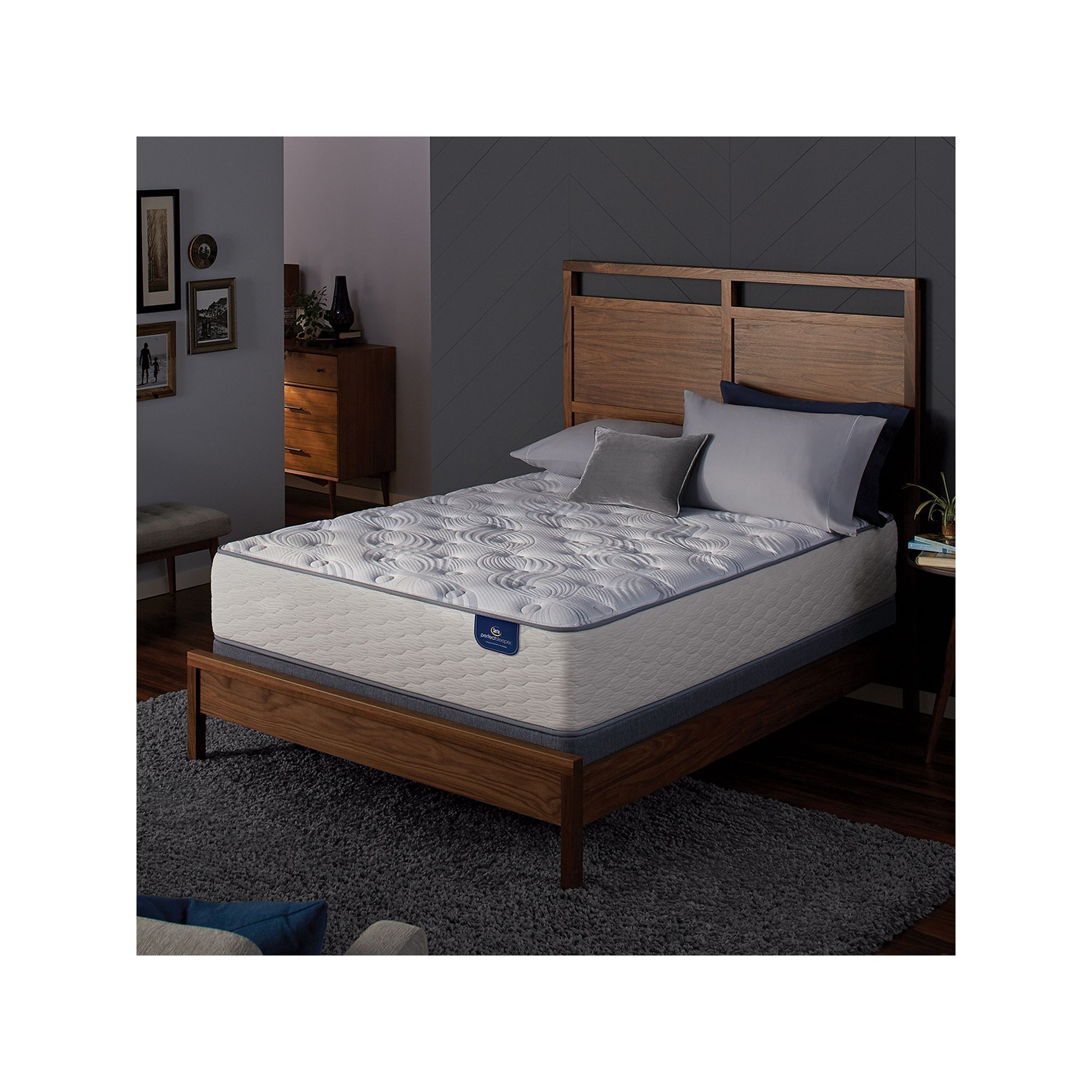 serta greenford plush mattress box spring set white mattress