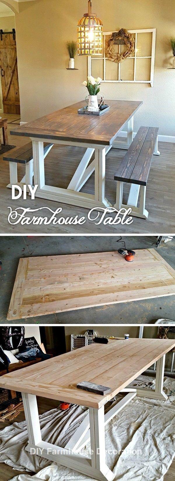 diy easy and great farmhouse decor ideas diyhomedecor farmhouse dining room table farmhouse on farmhouse kitchen table diy id=70749