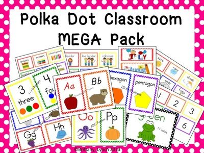 Rainbow+Polka+Dot+Classroom+Theme+MEGA+Pack++from+Brittany+Lynch+on+TeachersNotebook.com+-++(163+pages)++-+This+classroom+theme+packet+would+make+any+classroom+bright+and+fun!+My+classroom+packet+is+FULL+of+cards,+signs,+posters,+decorations,+etc.+that+can+be+used+to+help+get+your+polka+dot+themed+classroom+ready+for+the+beginning+of+the+year.+