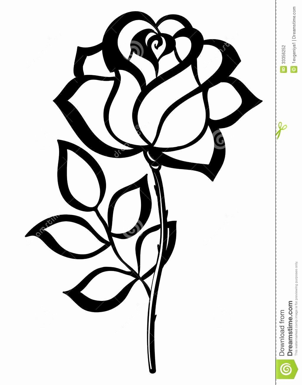 Single Flower Coloring Pages Unique Simple Rose Outline In 2020 Flower Coloring Pages Single Flower Roses Drawing