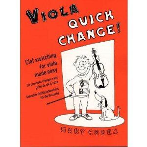 Cohen, Mary - Quick Change! Clef Switching for Viola by Mary Cohen. $9.23. Cohen, Mary - Quick Change! Clef Switching for Viola. Save 10% Off!