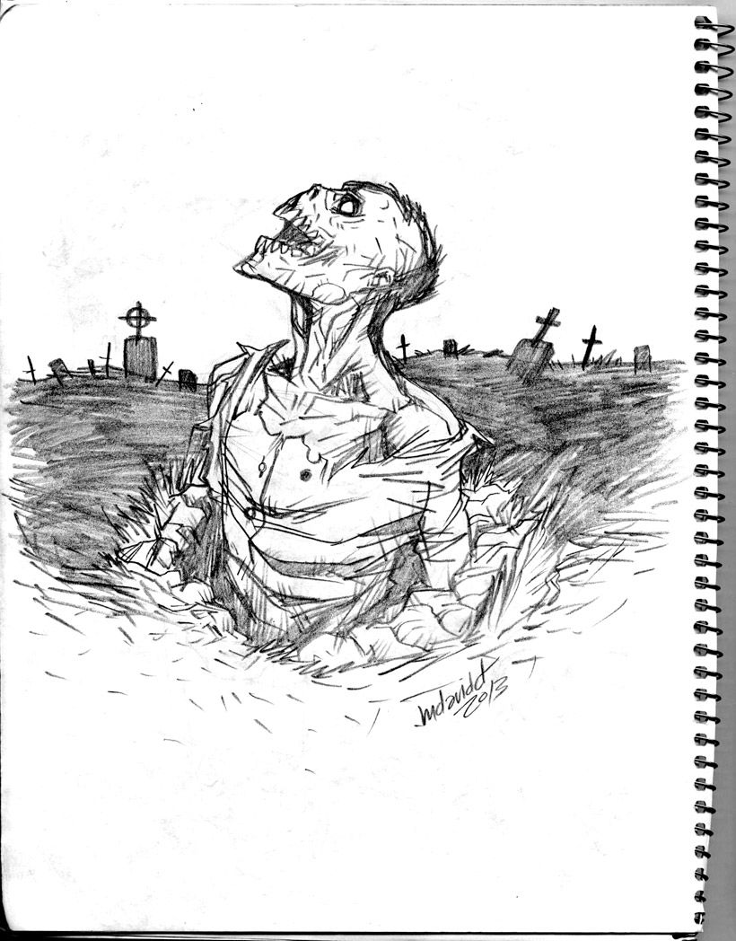 Zombie drawings in pencil zombie return pencil sketch by mdavidct traditional art drawings