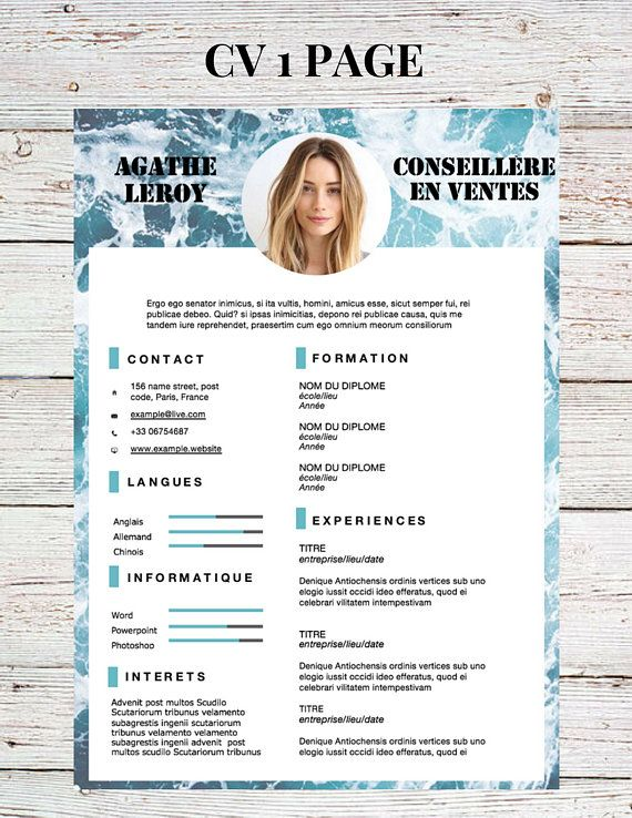 mod u00e8le de cv  mod u00e8le de lettre de motivation  cv template